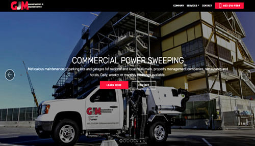 Bontra Web Design - GJM Power Sweeping