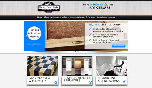 Bontra Web Design - Martino Finish Works