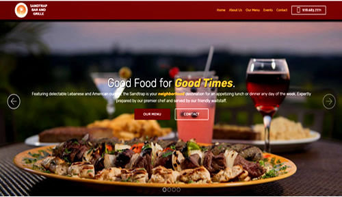 Bontra Web Design - Sandtrap Bar and Grille
