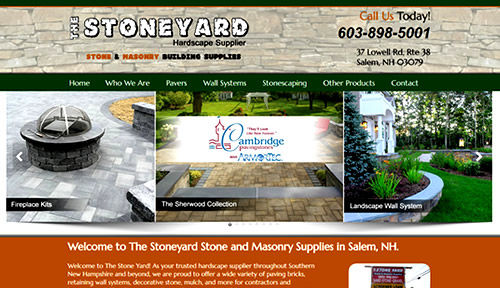 Bontra Web Design - Stoneyard Salem NH